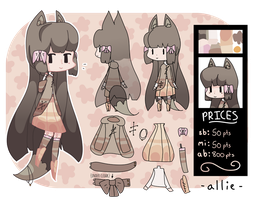Fall Kemonomimi Adoptable [AUCTION - CLOSED] by alliemews