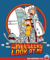 I'm Mr Meeseeks, look at me T-shirt design by alsnow