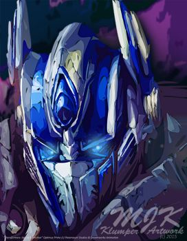 TF AOE Optimus Abstract - On This Night by MessyArtwok