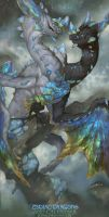 2017 Zodiac Dragons Calendar - Gemini Dragon by The-SixthLeafClover