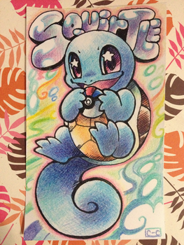 Squirtle Index Card by crayon-chewer