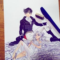 Serenity and Endymion by zelldinchit