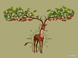 Tree stag by Gnulia