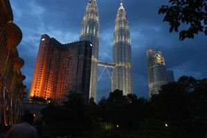 KLCC at Night by ILICarrieDoll