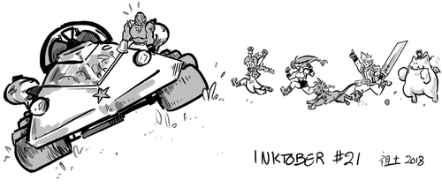 Inktober 21 - the Buggy by not-fun