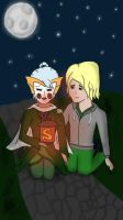 Harumi and Lloyd - Day of the departed by IcePrismArt