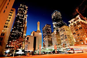 Downtown Los Angeles Night HDR by designKase