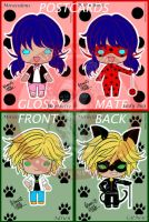 Miraculous Ladybug Postcards by ArtimasStudio