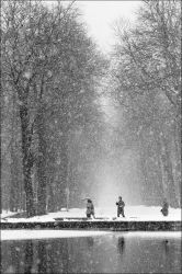 First snows in St. Cloud park by PhilipLim