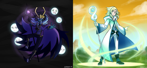 [Miitopia!] Dark Lord and Great Sage by Sapphire-M