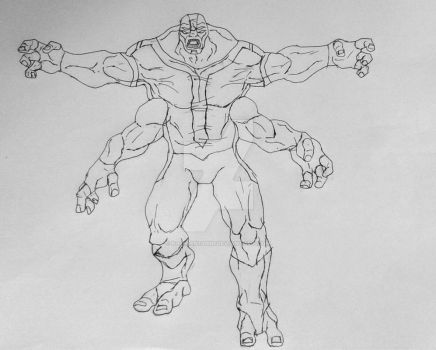 Realistic Fourarms sketch by Kamran10000