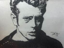 James Dean Charcoal #2 by DustinJWCook