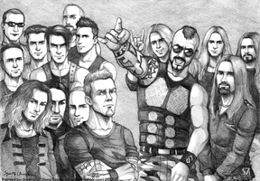Rammstein, Metallica and Sabaton by syren007