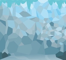 Background: Ice Cave by csillaghullo