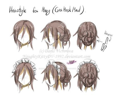 Hairstyle for Mary (GasMaskMaid) by NaughtyKittyDV-1992