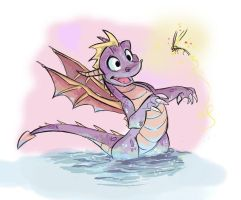 Spyro and Sparx by LauraJaneArt
