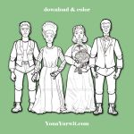 Frankensteins + Brides - Paper Doll Coloring Sheet by yurwity