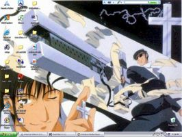 another wolfwood background by Akouma