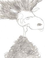 Keith Richards as a sheep by elpajo