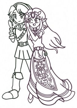 OoT ZeLink Sketch(Collab) by M-D-47