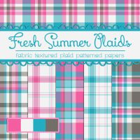 Free Fresh Summer Plaids by TeacherYanie