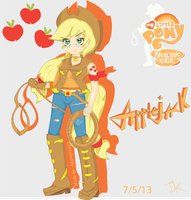 Humanized Applejack by Arteses-Canvas