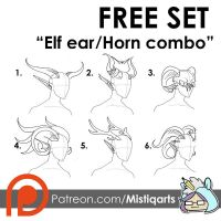 FREE Resource set: Elf ears and horns by Mistiqarts
