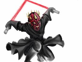 Digital Darth Maul by Pencilbags