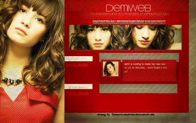 Demi Lovato Layout by ifoundareasonforme