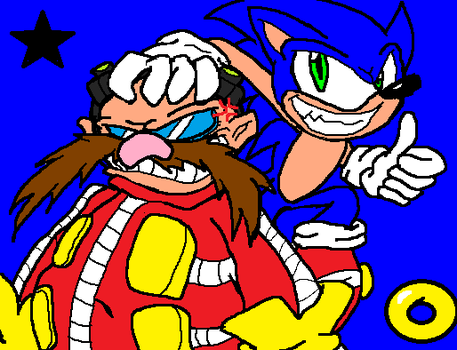 Sonic and Eggman by InvdrScar