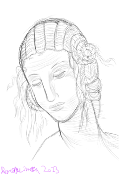 Study of the Head of Leda by baroquemoon