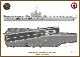 Colbert-class aircraft carrier by Pygargue56