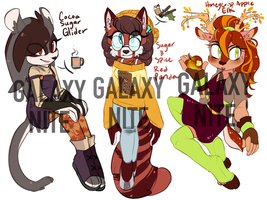 Fall Adoptables (CLOSED) by Galaxynite