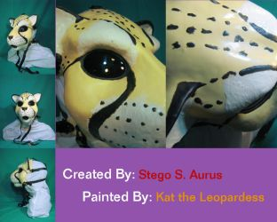 Painted Gas Mask: Kauko Cheetah V1 by Catwoman69y2k