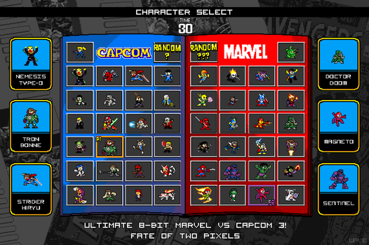 8Bit Ultimate Marvel vs Capcom by suzuran
