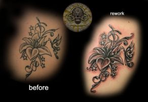 rework of a flower by 2Face-Tattoo
