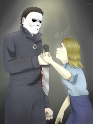 Michael Myers and Laurie Strode (Halloween) by Luche777