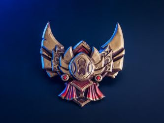 League of Legends Gold Badge Pin by blackmaskedfox