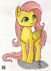 Fluttershy watercolor by MagarNadge