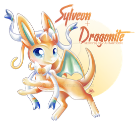 Sylveon x Dragonite by Seoxys6