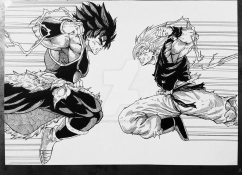 Son Goku vs Broly by Darko-simple-ART
