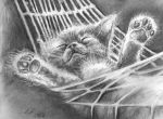 Napping Kitty for Jocelyne by philippeL