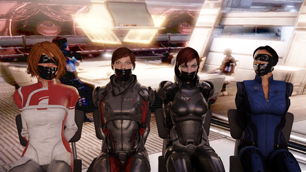 Mass Effect Babes in Distress by TheBlenderTaper