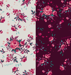 Floral-patterns in pink by catghost