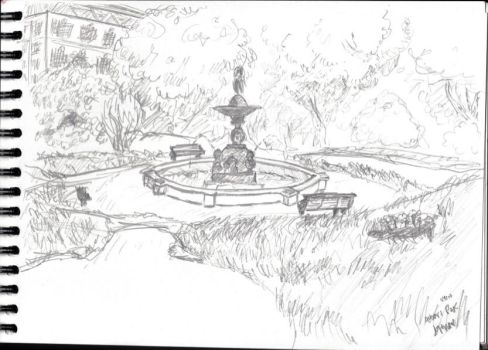 Albert Park - Auckland, New Zealand quick sketch by kinow