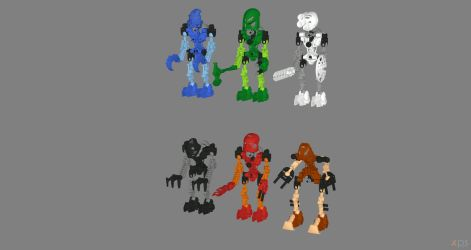 Bionicle - Toa Mata Pack for XPS by Fuzzy-Moose