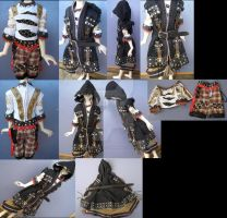 Japan Punk BJD outfit commission by LightningSilver-Mana
