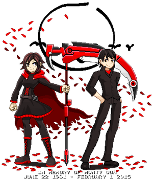 Ruby Rose And Monty Oum Diorama by ScepterDPinoy