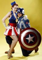 Cap and USO Girl by arktoi