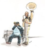Street Musicians - New Orleans, LA by rod-roesler